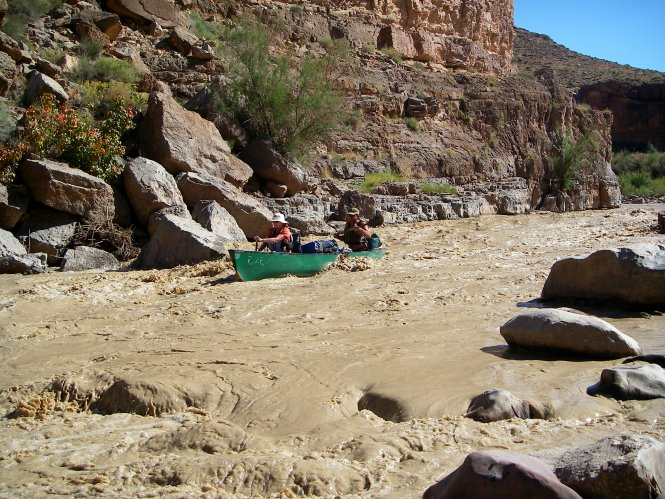 Kerry and Deb at eight foot rapid
