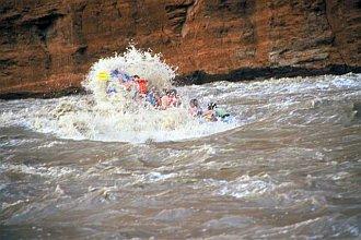 day rafting trip at 18000cfs