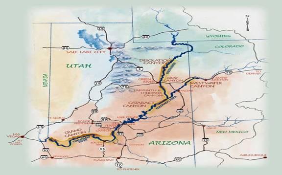Map of Colorado Plateau