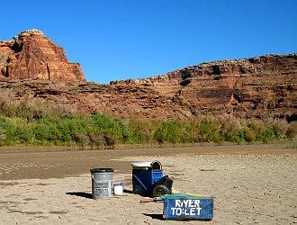 river toilet